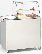 Photo d'un bain-marie-professionnel électrique sur meuble en inox Rolller Grill