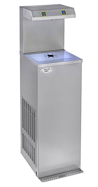 Photo d'une fontaine à eau sans contact : fontaine à eau réfrigérée pour covid 19