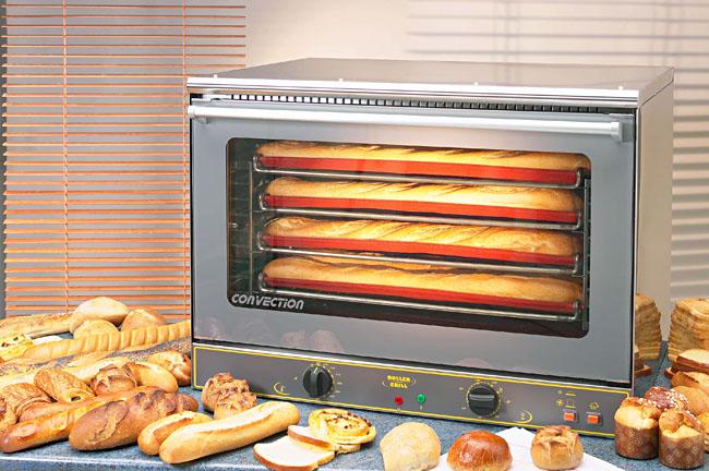 Photo d'un four boulangerie professionnel électrique: vapeur et chaleur tournante