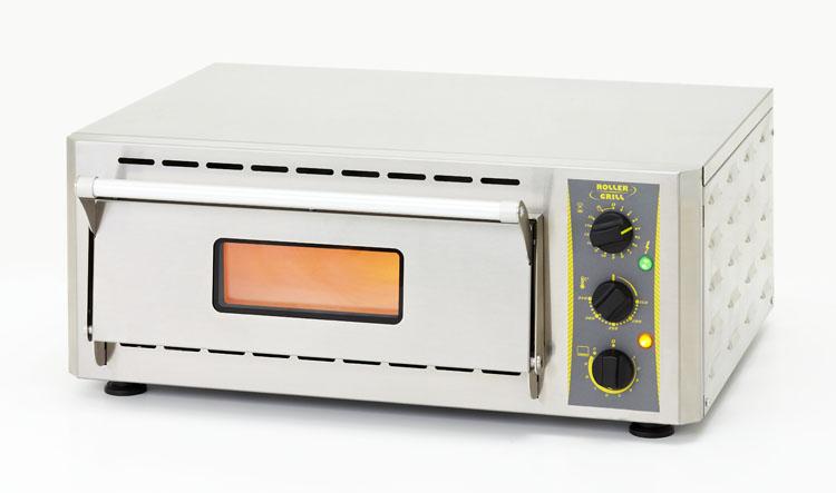 Photo d'un four à pizza électrique professionnel 220v pour 1 pizza, four en inox