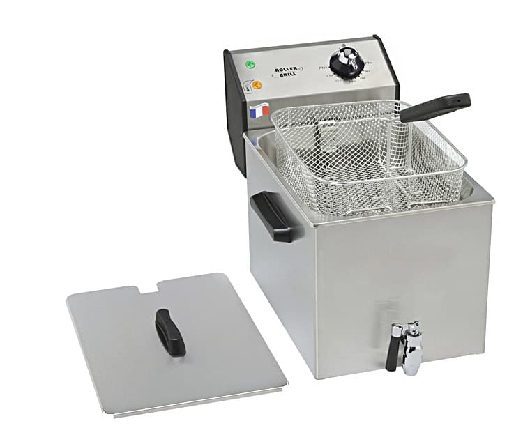 Photo d'une friteuse électrique semi professionnelle avec robinet de vidange