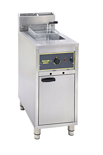 Photo d'une friteuse professionnelle sur pied de grande capacité, 15 - 16 litres