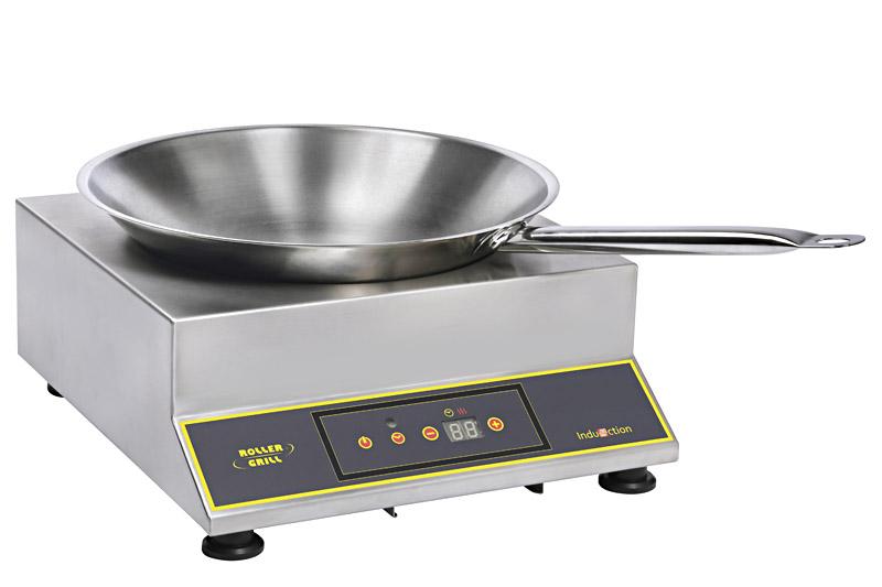Photo d'une plaque induction wok professionnelle, un feu et transportable