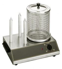 Photo d'un appareil à hot dog professionnel et machine à hot dog Roller Grill 3 plots