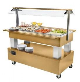 Photo d'un buffet réfrigérée pour restaurant, capacité 4 bacs GN 1/1 - SB 40 F