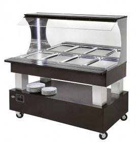 Photo d'un buffet salad'bar froid et chauffant pour 4 bacs GN 1/1 - SBM 40 M