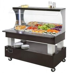 Photo d'un buffet salade bar réfrigéré pour restaurant SBM 40 F