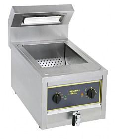 Photo d'un chauffe frites professionnel tout inox pour frites et fritures