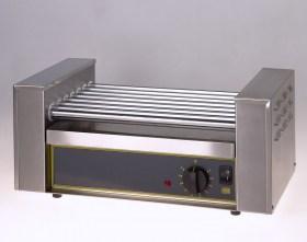 Photo d'un chauffe hot-dog professionnel à 7 rouleaux chauffants
