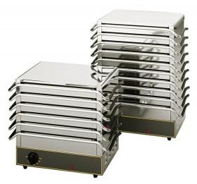 Photo d'un chauffe plat électrique professionnel pour cuisine pro  - 6 plaques Roller Grill