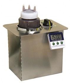 Photo d'un chauffe sauce professionnel électrique et chauffe sauce chocolat encastrable