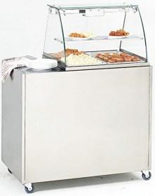 Photo d'un meuble en inox (MS 2) pour bain marie mobile, roulant, professionnel (BMV 2)