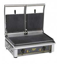 Photo d'un contact-grill Majestic : presse à sandwich pro double et grill viande