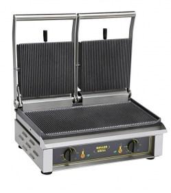 Photo d'un contact-grill Majestic : presse à sandwich pro double et grill viande