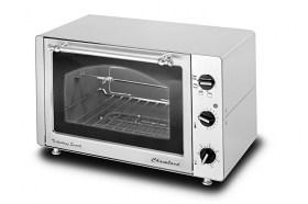 Photo d'un four tourne-broche électrique infrarouge et en inox - 34 litres