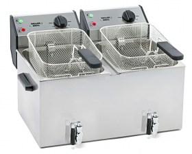 Photo d'une friteuse professionnelle 2 x 8 litres à zone froide