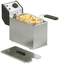 Photo d'une friteuse professionnelle électrique rectangulaire 4 - 5 litres