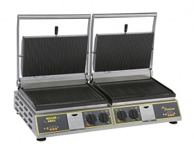 Photo d'un grill panini double 3 en 1 : multi contact-grill panini, steak, burger