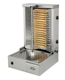 Photo d'un grill viande vertical électrique et broche kebab professionnelle