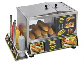 Photo d'une Machine à hot-dog américaine : concept et station hot-dog HDS 60 Roller Grill