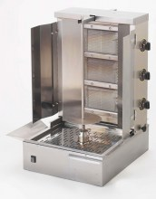 Photo d'une machine à kebab au gaz 3 feux