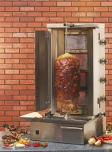 Photo d'une machine à kebab au gaz 4 feux
