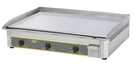 Photo d'une plancha acier chromé avec 3 zones de cuissson pro électrique