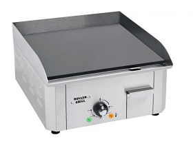Photo d'une plancha acier emaillé électrique avec une zone de cuisson