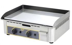 Photo d'une plancha électrique 2 zones de cuisson en acier chromé