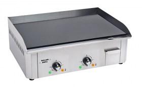 Photo d'une plancha électrique 2 zones de cuisson en acier émailé