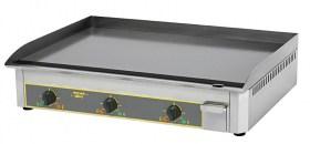 Photo d'une plancha électrique en acier émaillé avec 3 zones de cuisson