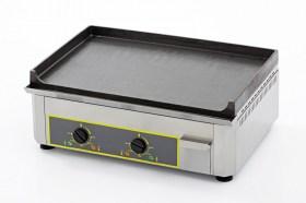Photo d'une plancha électrique en fonte : plancha pro avec 2 zones de cuisson