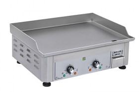 Photo d'une plancha inox électrique avec 2 zones de cuisson