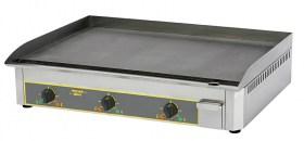 Photo d'une plancha pro électrique en acier décarburé avec 3 zones de cuisson