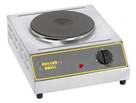 Photo d'un réchaud électrique 1 feu: 1 plaque 2000 w - réchaud professionnel ELR 2 Roller Grill