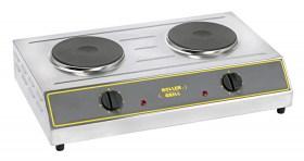 Photo d'un réchaud électrique professionnel 2 feux -  2 x 1500 w Roller Grill