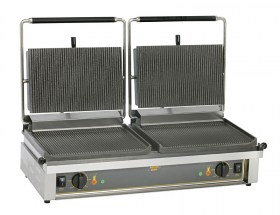 Photo d'un grill panini double: grill panini pro, machine à panini double - Roller Grill