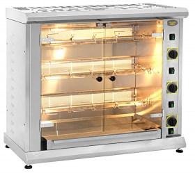 Photo d'une rôtissoire verticale professionnelle gaz 3 broches - 10 poulets