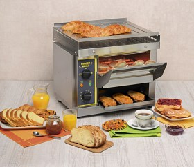 Photo d'un toaster horizontal et convoyeur toaster pour professionnel Roller Grill