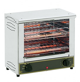 Photo d'un toaster inox double professionnel à infrarouge