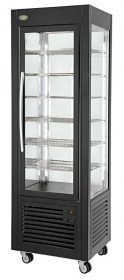 Photo d'une vitrine réfrigérée négative et ventilée avec grilles - vitrine Roller Grill