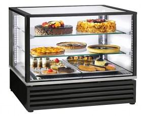 Photo d'une vitrine réfrigérée pour pâtisserie : vitrine réfrigérée positive