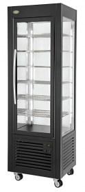 Photo d'une vitrine réfrigérée verticale et positive avec grilles
