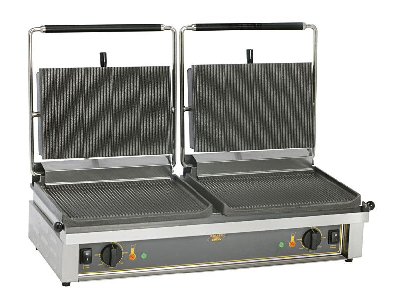 Photo d'un grill panini double: grill panini pro, machine à panini double - Roller Grill