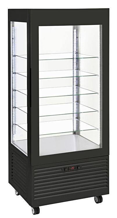 Photo d'une vitrine négative, réfrigérée, verticale à froid ventilé