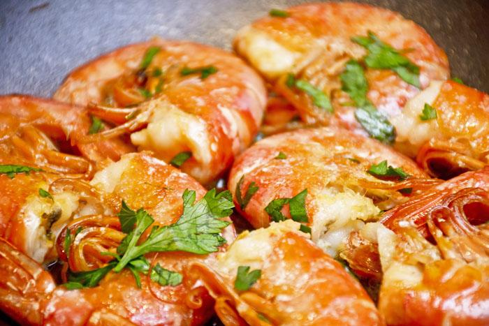 cuisson plancha crevettes