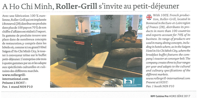 Article export RollerGrill RPF HS2017