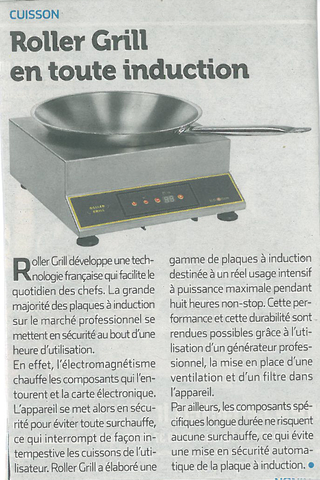 Article wok induction RollerGrill Zepros48 2017