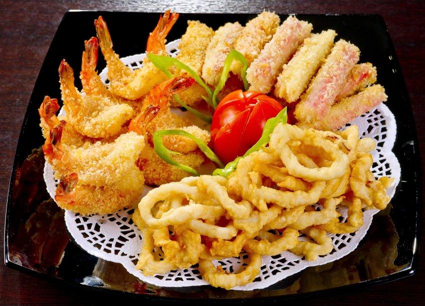friture crevettes calamars