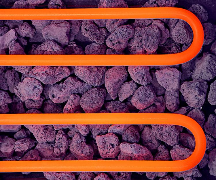 resistance et pierres de lave roller grill
